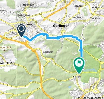 bike tour through Leonberg