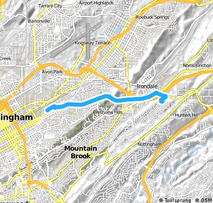 Brief bike tour from Birmingham to Irondale
