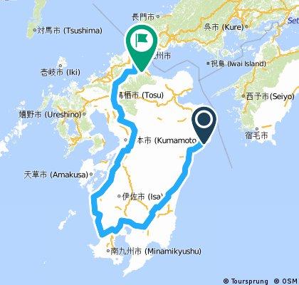 Kyushu map