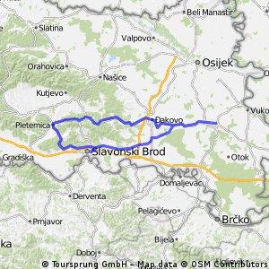 Vinkovci-Pleternica-Slavonski Brod-Vinkovci