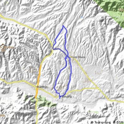 Day 1 - Half - Solvang - Los Olivos - 36 K