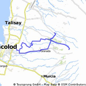 Cycling Routes And Bike Maps In And Around Bacolod City Bikemap - Bacolod map