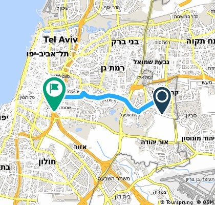 Brief bike tour from Kiryat-Ono to Tel Aviv-Yafo