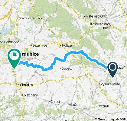 Choceň - Horní Jelení - Pardubice