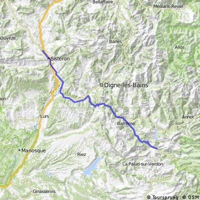2016 Ride Day 76 - Sisteron to Castellane