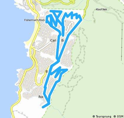 bike tour through Cape Town