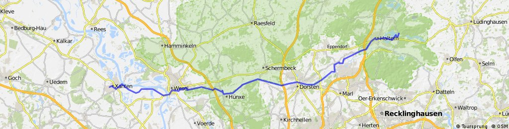 Xanten - Wesel - Dorsten - Haltern (Römerroute)