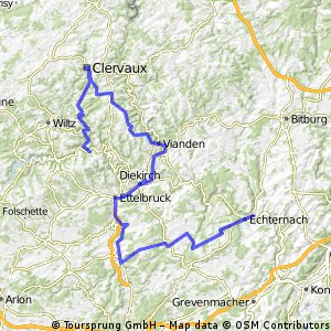 Luxemburg III.nap Dirbach-Wilwerwilz-Munshausen-Poul--Clervaux-Munshausen-Bockholz-Hosingen
