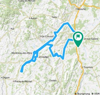 Southern Burgundy 3 day loop