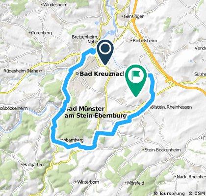 Planig-Pleitersheim über Bad Münster 33,85 KM