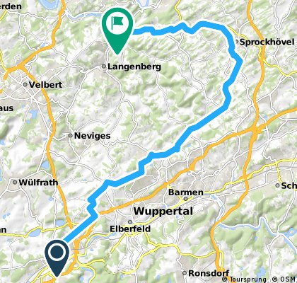 Trasse Vohwinkel über Sprockhövel nach Nierenhof