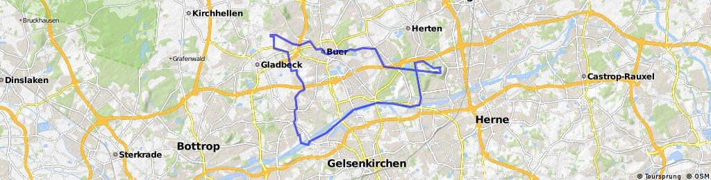 Lange Radrunde durch Gladbeck