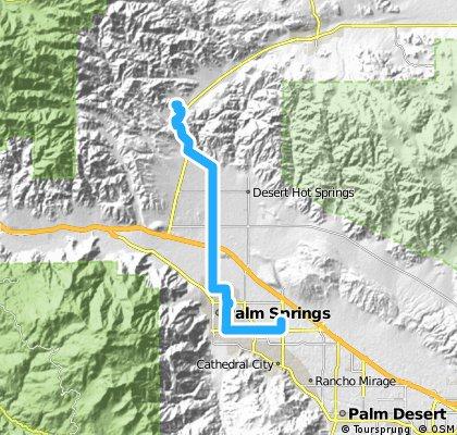 Long ride through Morongo Valley
