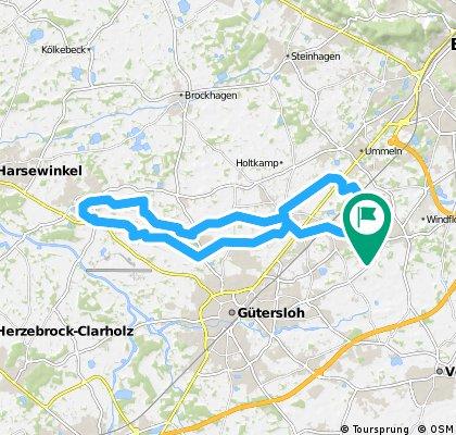 Rundkurs Taubenweg_Marienfeld_Taubenweg