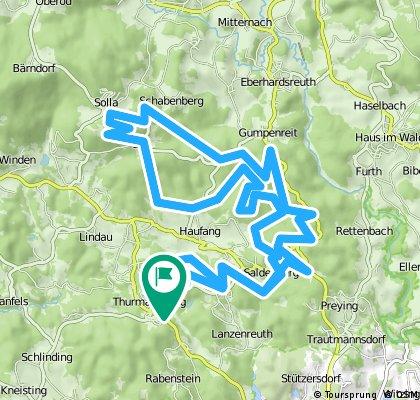 MTB Woidman 35 km Strecke ab Thurmansbang