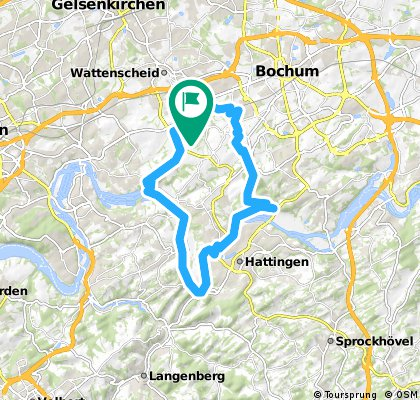 Lange Radrunde durch Bochum
