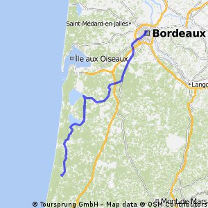 BORDEAUX---LIT-ET-MIXE 160km 240Hm