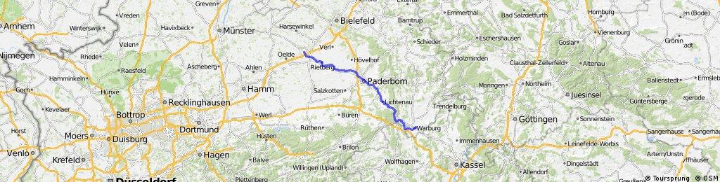 Warburg - Paderborn - Wiedenbrück