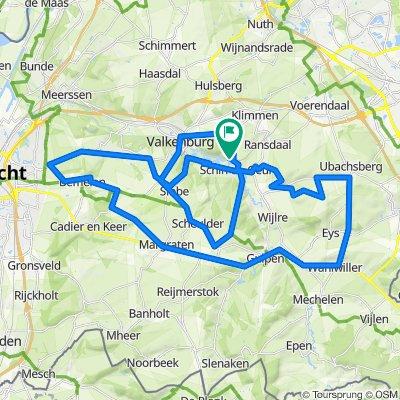 Zuid-Limburg - Schin op Geul route 5 (59,5 km)