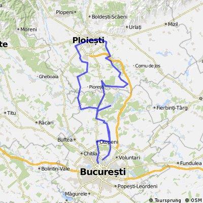 Bucuresti - Otopeni - Tunari - Potigrafu - Balta Doamnei - Moara Domneasca - Berceni - Ploiesti - Strejnicu - Peris - Ghermanesti - Tunari - Bucuresti