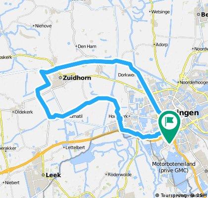 trainingsronde grunn-zuidhorn-grunn 37 km