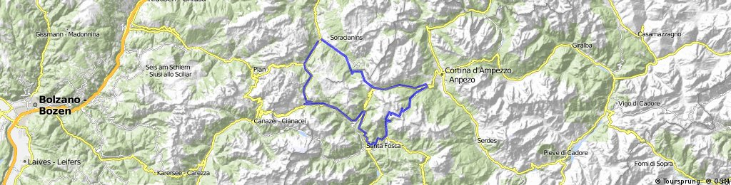 La Villa-Corvara-Arabba-Cernadoi-Passo Giao-Falzarago-Valparola-La-Villa