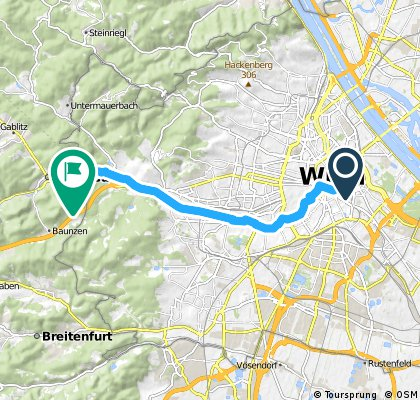 ride from Vienna to Purkersdorf