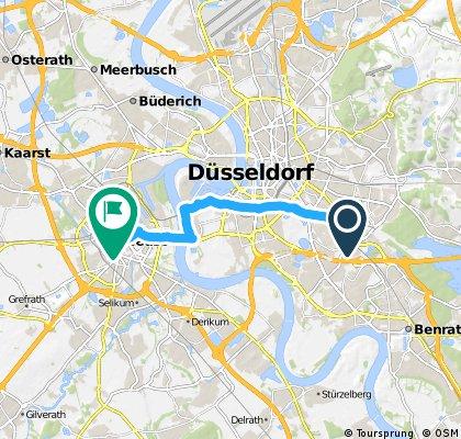 Ausfahrt von Düsseldorf nach Neuss