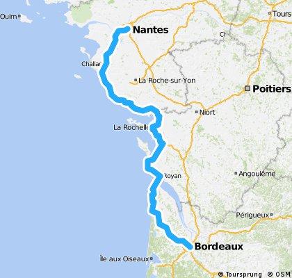 Nantes to Bordeaux