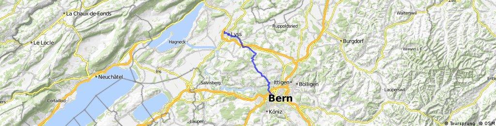 Lyss - Bern via Bütschwil