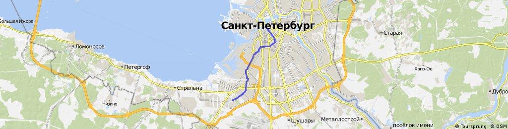 ride through St. Petersburg