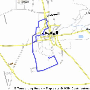 Lengthy ride from (null) to الهفوف