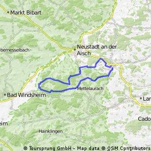 Zu den Weinbergen von Ipsheim