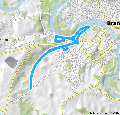 bike tour through Brantford