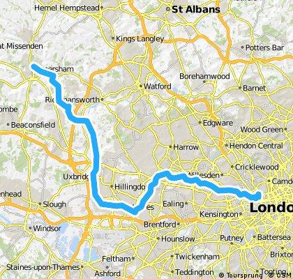 marylebone to amersham