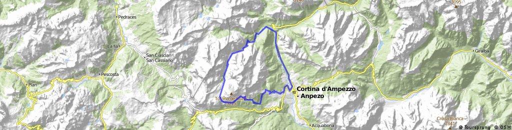 Val Travenanzes forbidden trail