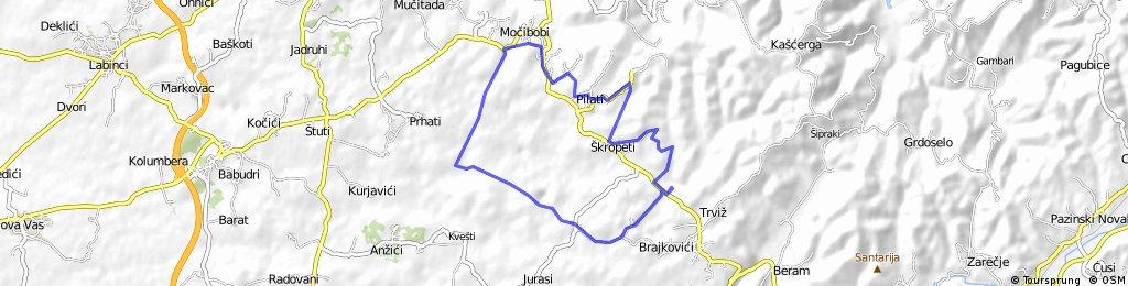 """Biciklistička staza """"SURI KUNFIN"""""""