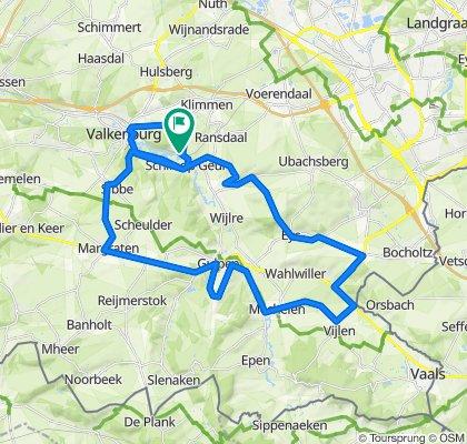Zuid-Limburg - Schin op Geul route 8 (47,9 km)