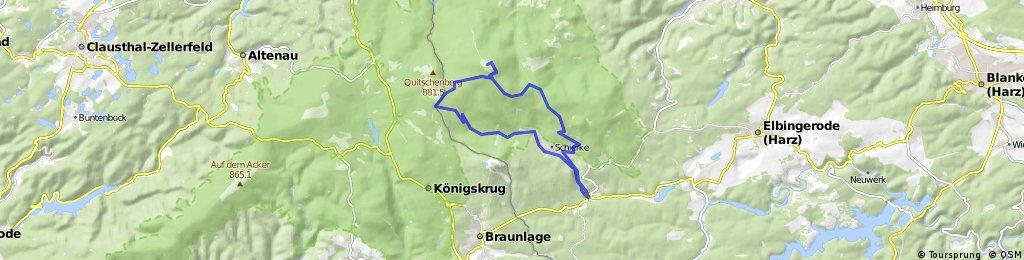 Elend-Schierke-Brocken-DreieckPfahl-Schierke-Elend