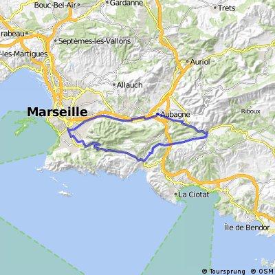 60km Marseille - Cassis - Aubagne - Marseille
