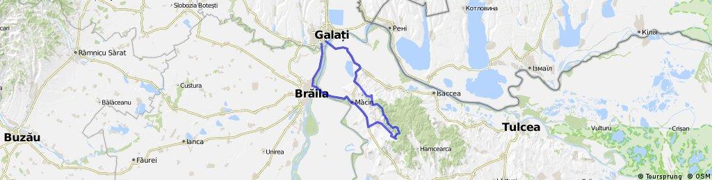 Traseu Galati-Pietrele Mariei-M.tii.Macin-Galati