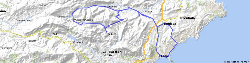 Calp-Benissa-CollRates-Castells-Xaló-Calp