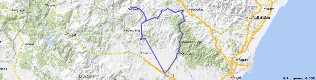 Lliria-Alcublas-LaBellida-Altura-PicoAguila-Lliria