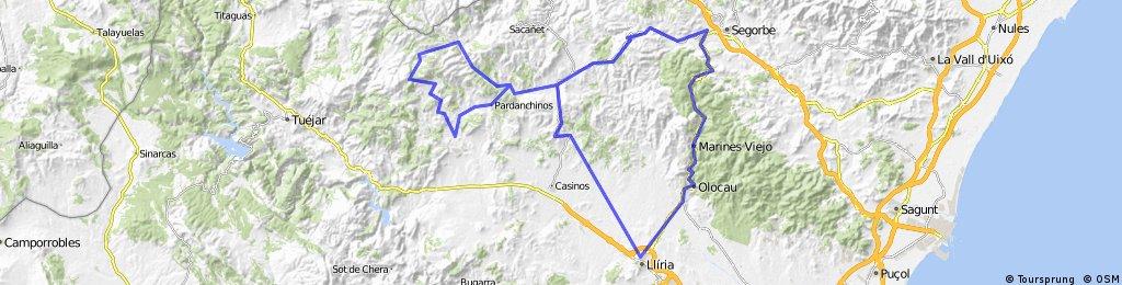 Lliria-Altura-Alcublas-Pobleta-ElVillar-Alcublas-Lliria