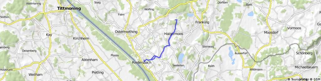 Radfahren Hehermoos Retour 11,1km 90hm