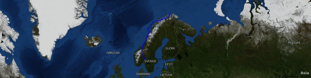 Oslo - North Cap - Alta