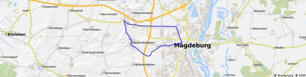 Radrunde durch Magdeburg