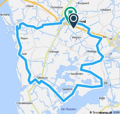 Bolsward - Makkum - Workum - Gaastmeer - Ijlst - Folsgare - Nijland - Bolsward