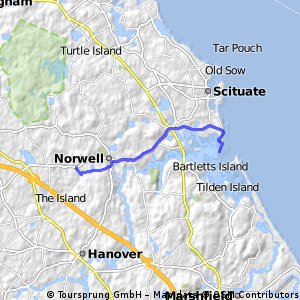 bike tour from Norwell to Scituate