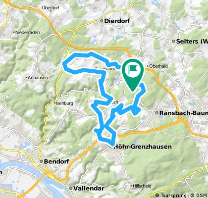 Wittgert-Hundsdorf-HöhrGrenzhausen-Alsbach-Sessenbach-Wirscheid-Kausen-Großmaischeid-Stebach-Breitenau-Wittgert